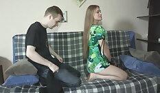 Beauty brunette Lucy May prefers pleasing BFs dick