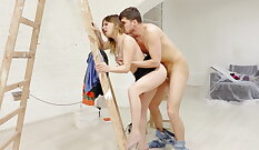 Russian Amateur Chick Takes a Threesome with His Friend