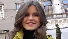 Amazing russian girlfriend sucks dick a few times for money