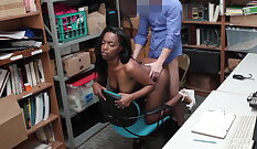 Horny foreigner pissed in busy shop