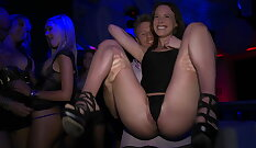 Ass toying with jocks at sex party