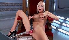 Babe Loves Pentas Sex Machines And Hitachi Orgasm
