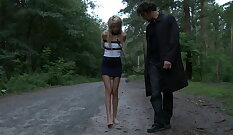 Young European amateur is punished for having good full length sex
