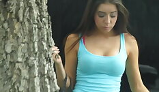 Cheating girlfriend pounded by her fake agent